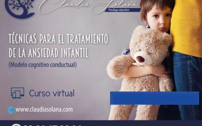 Técnicas para el tratamiento de la ansiedad infantil